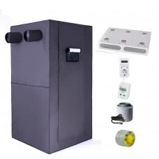 """Гроубокс под ключ 80x80 см (высота 1,6м) с фитосветом и автоматикой """"Джин"""""""